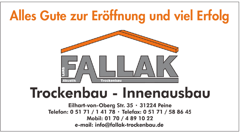 Fallak Trockenbau-Innenausbau