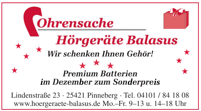 Ohrensache - Hörgeräte Balasus