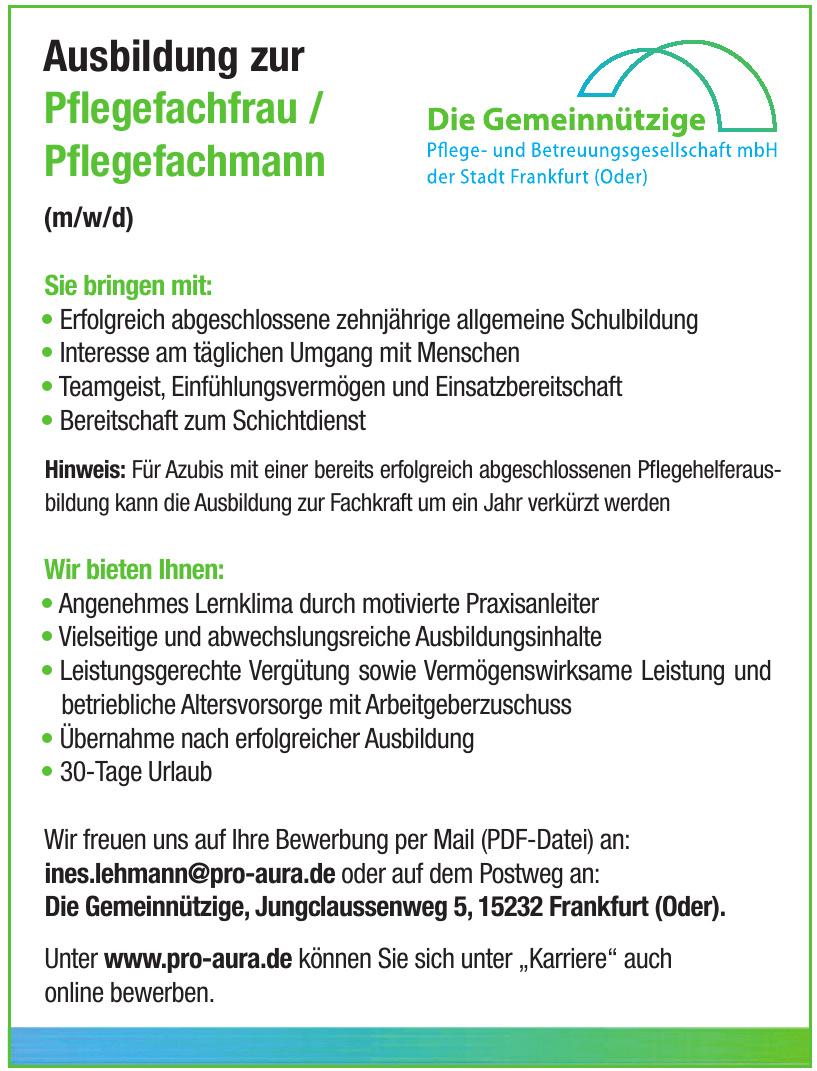 Gemeinnützige Pflege- und Betreuungsgesellschaft der Stadt Frankfurt (Oder) mbH