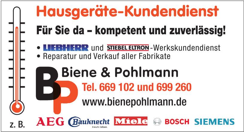 Hausgeräte-Kundendienst Biene & Pohlmann