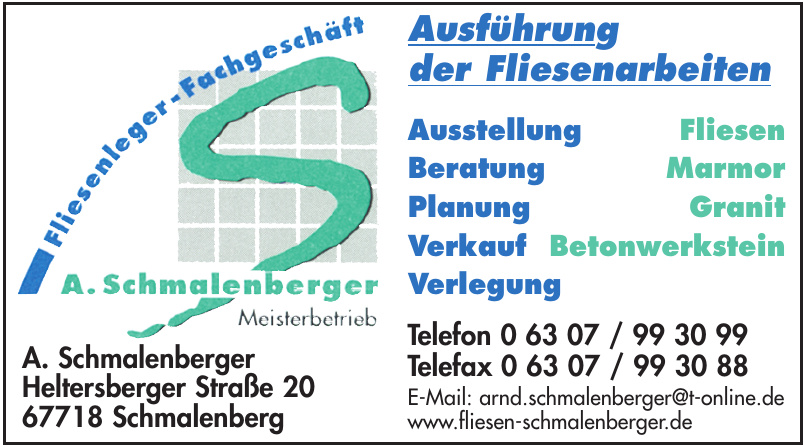 Fliesenleger-Fachgeschäft A. Schmalenberger
