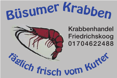 Krabbenhandel Friedrichskoog