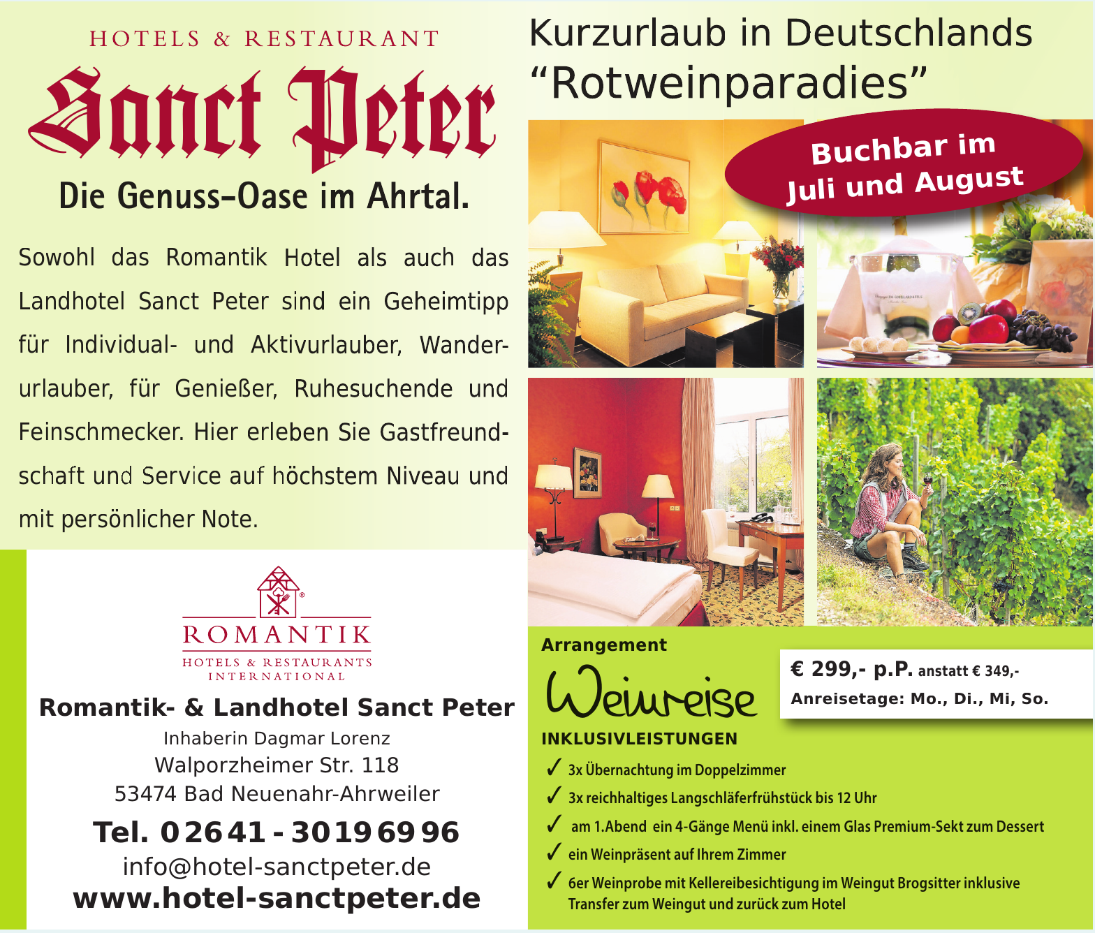 Romantik- & Landhotel Sanct Peter
