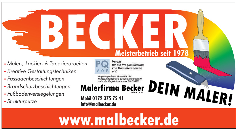 Malerfirma Becker GmbH & Co. KG
