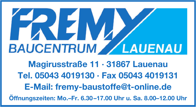 Fremy Bauventrum Lauenau
