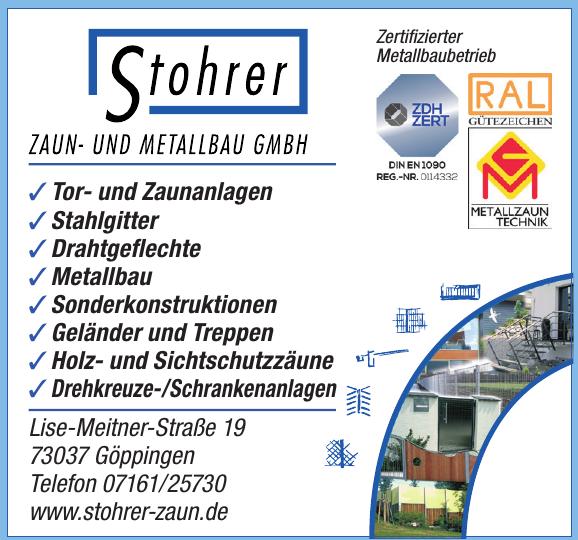 Stohrer Zaun- und Metallbau GmbH