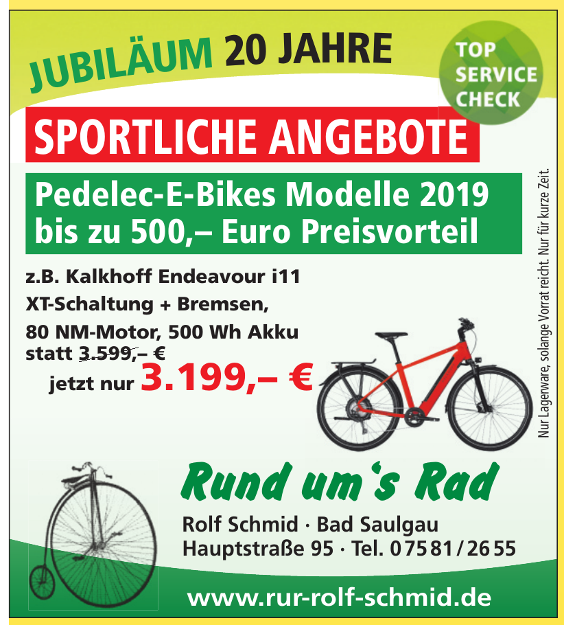 Rolf Schmid - Rund um´s Rad