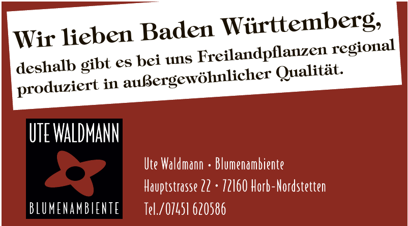 Ute Waldmann - Blumenambiente