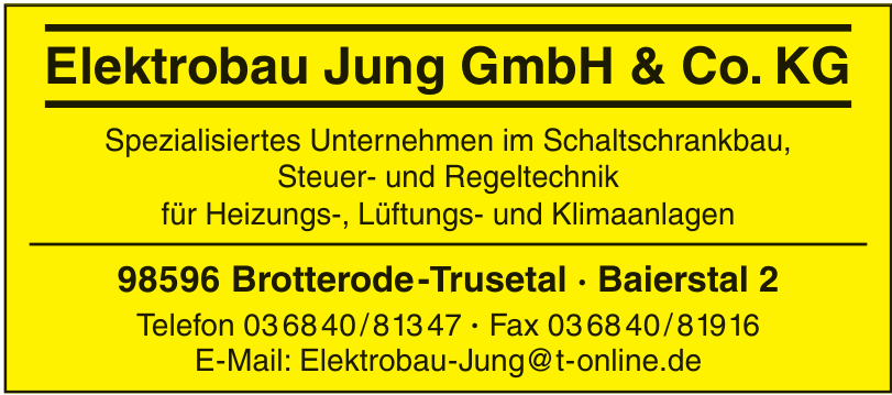 Elektrobau Jung GmbH & Co. KG