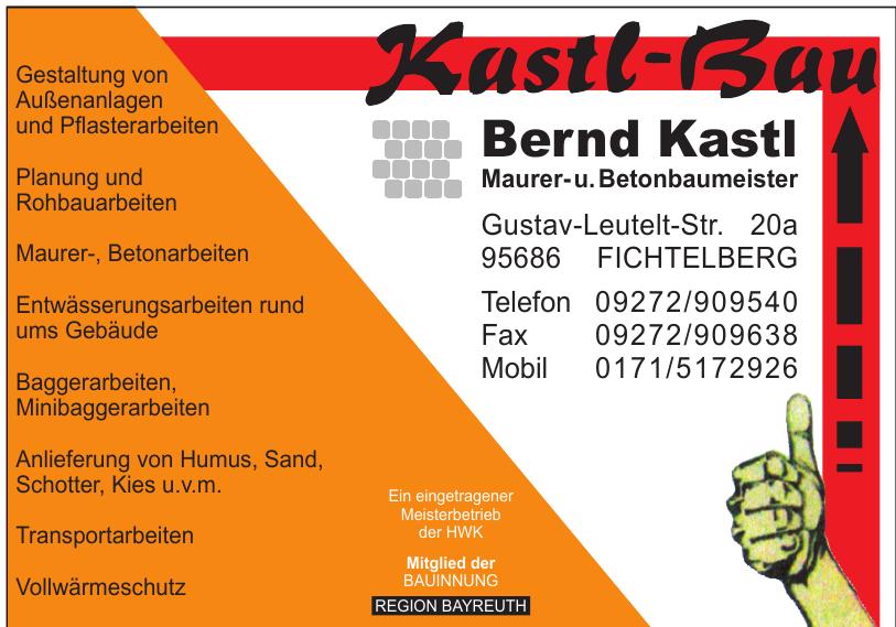 Bernd Kastl Maurer- u. Betonbaumeister