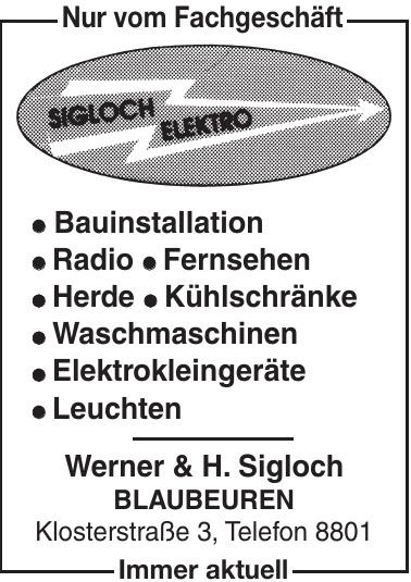 Werner & H. Sigloch