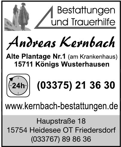 Bestattungen und Trauerhilfe Andreas Kernbach