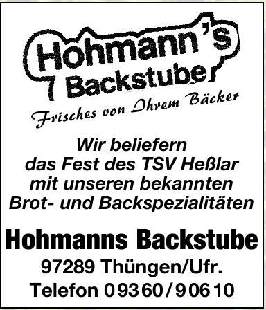 Hohmanns Backstube