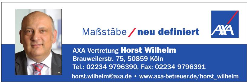 AXA Vertretung Horst Wilhelm