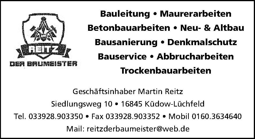 Geschäftsinhaber Martin Reitz