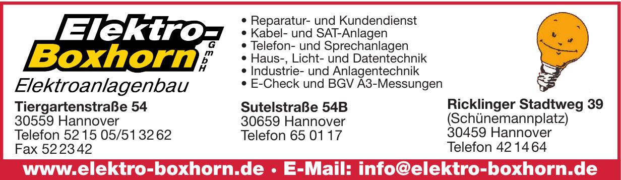 Elektro Boxhorn GmbH Elektroanlagenbau