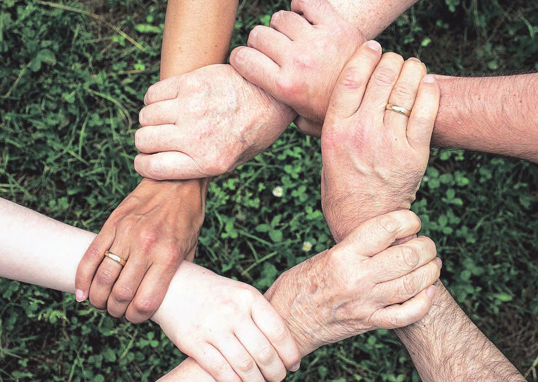 Soziale Netzwerke bieten Unterstützung und Halt