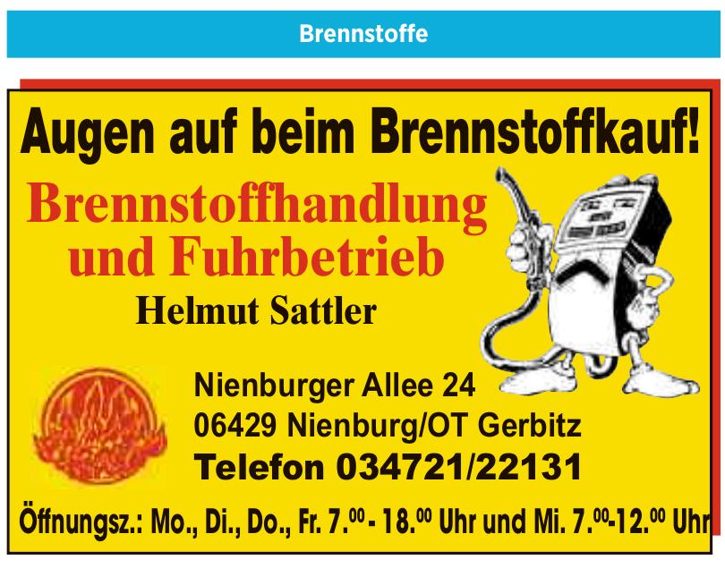 Brennstoffhandlung und Fuhrbetrieb Helmut Sattler