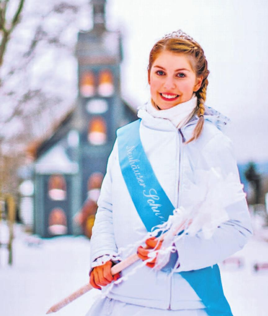 Ein herzliches Willkommen auch von der Schneeprinzessin aus Neuhaus am Rennweg. Foto: Rosenbaum