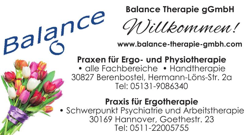 Balance Therapie gGmbH - Praxen für Ergo- und Physiotherapie