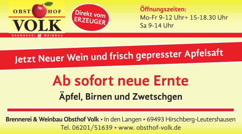 Brennerei & Weinbau Obsthof Volk