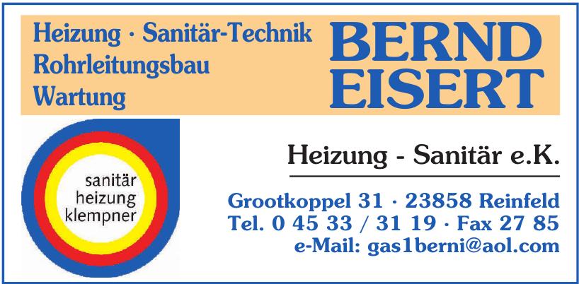 Bernd Eisert Heizung - Sanitär e.K.