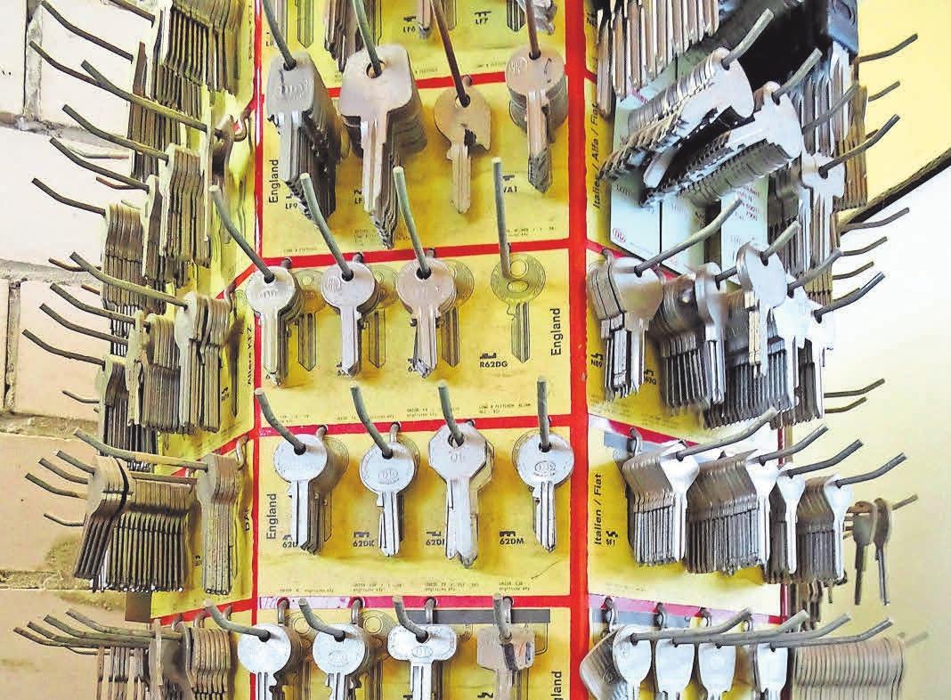 Sogar einfache Zimmerschlüssel können nachgemacht werden.
