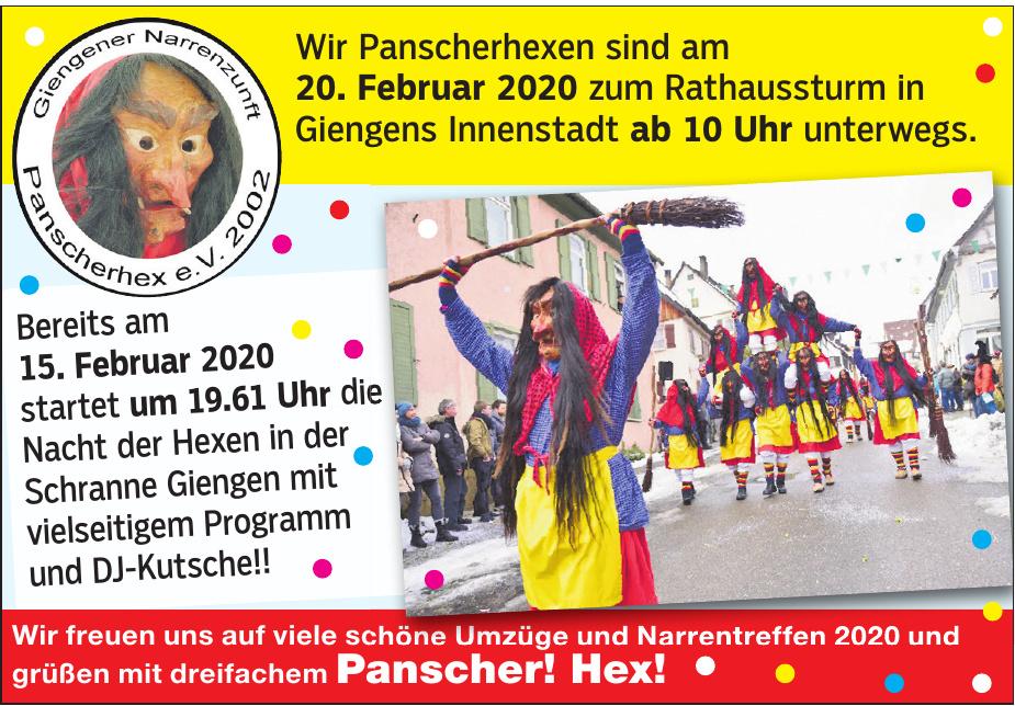 Gieengener Narrenzunft Panscherhex e.V. 2002