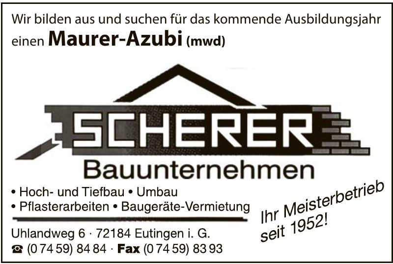 Scherer Bauunternehmen