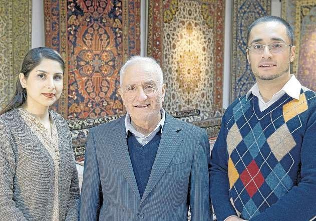 Kompetenz rund um Teppiche: das Team von Dr. Ali. FOTO: WILHELM STAMM
