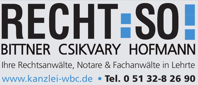 Bittner Csikvary Hofmann