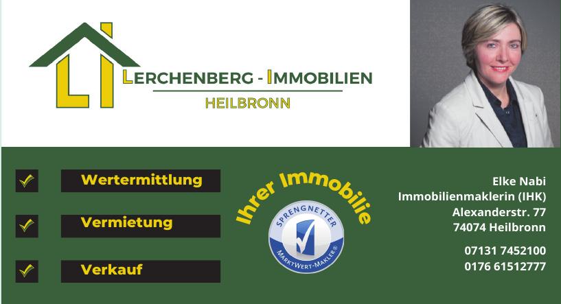 Elke Nabi Immobilienmaklerin (IHK) - Lerchenberg-Immobilien Heilbronn