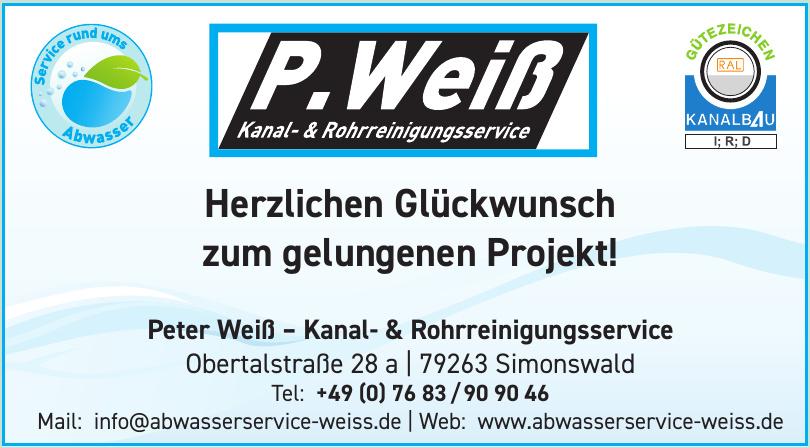 Peter Weiß – Kanal- & Rohrreinigungsservice