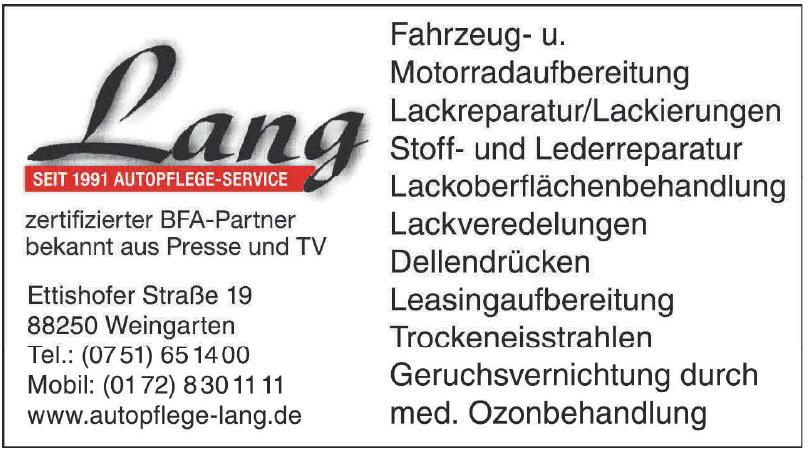 Autopflege-Service Lang