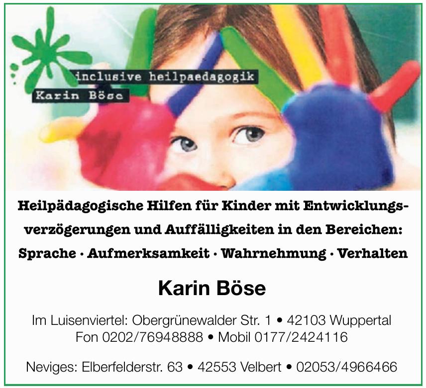 Inclusive Heilpedagogik Karin Böse