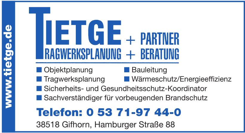 Tietge Ragwerksplanung +Partner + Beratung
