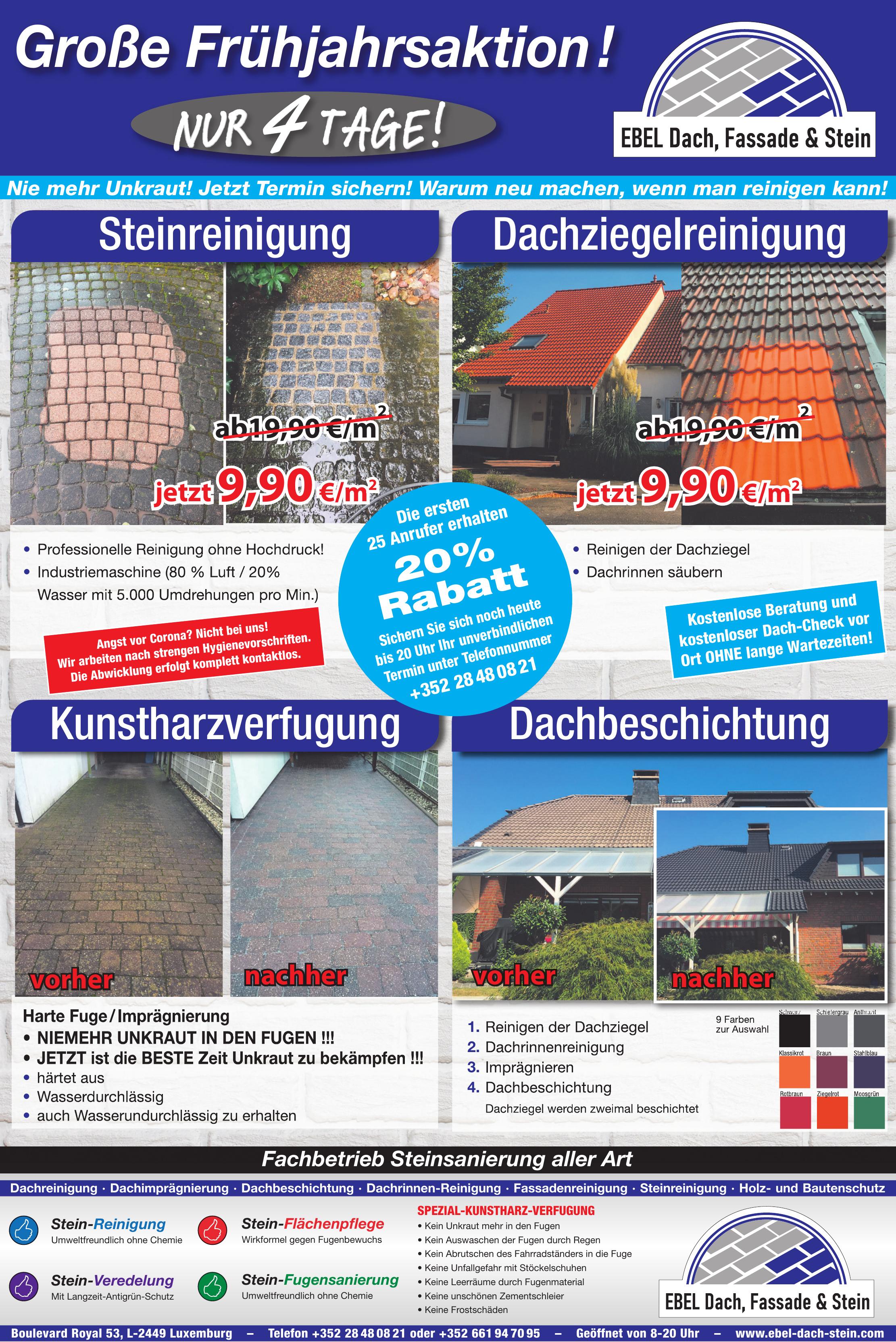 EBEL Dach, Stein & Fassade