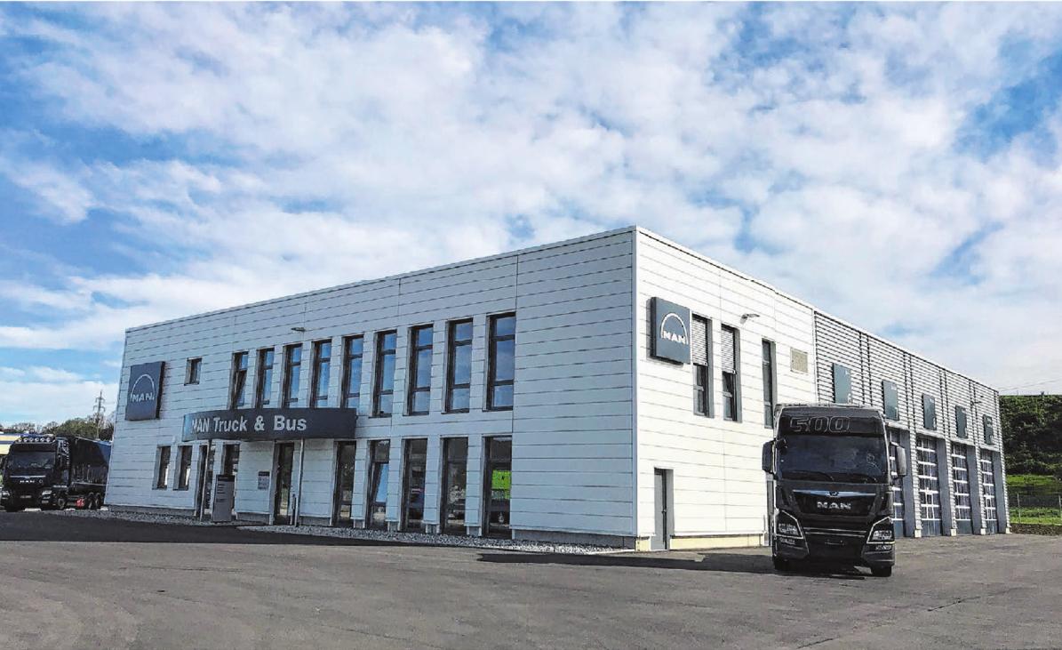 Das neue Gebäude im Gewerbegebiet Am Eichenbach. Foto: Constantin Fetzer