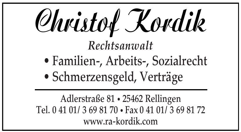 Christof Kordik Rechtsanwalt