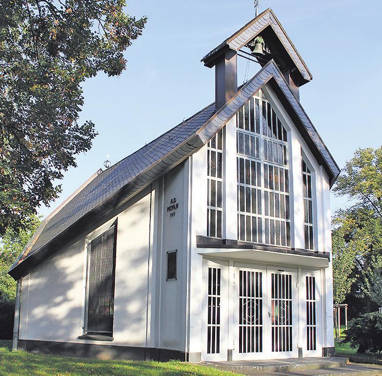 """Die Kapelle """"Madonna im Grünen"""" entstand im Jahr 1945 Bild: srs"""