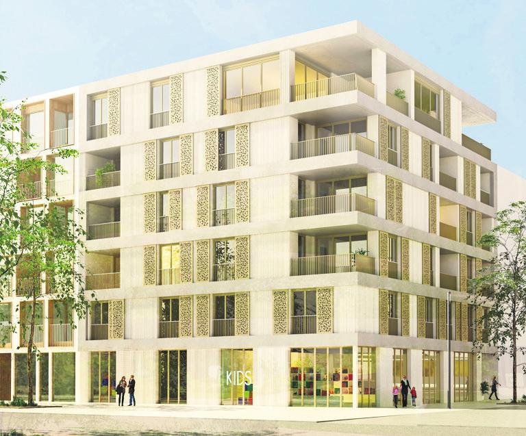Das zweite Projekt: Der Entwurf M4 im Neckarbogen II in Heilbronn. Foto: Lehen-Quartier GmbH
