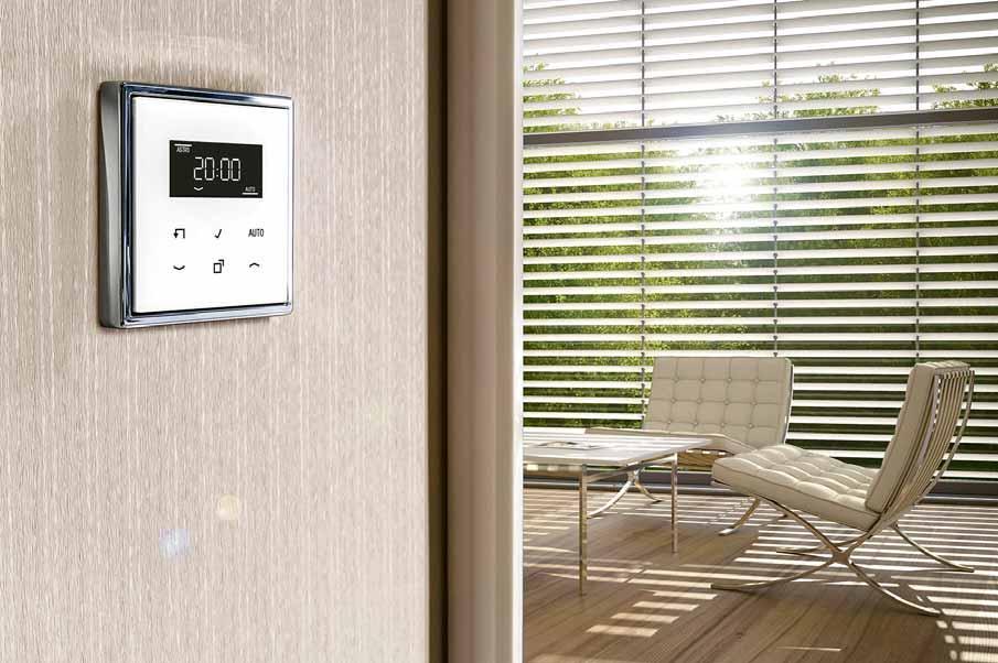 Auch Schalter, Steckdosen und Bedienelemente zählen zur Haustechnik. Foto: BDF/JUNG
