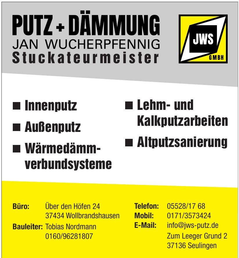 JWS GmbH Putz+Dämmung Jan Wucherpfennig Stuckateurmeister