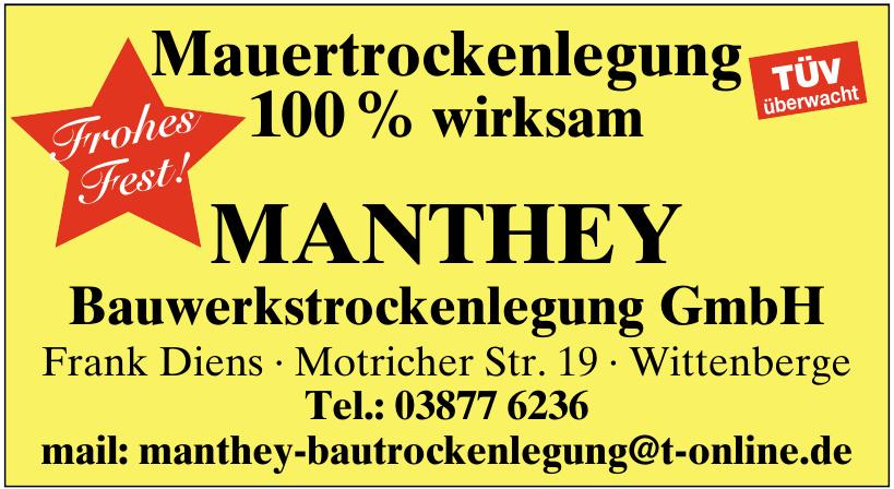 Manthey Bauwerkstrockenlegung GmbH