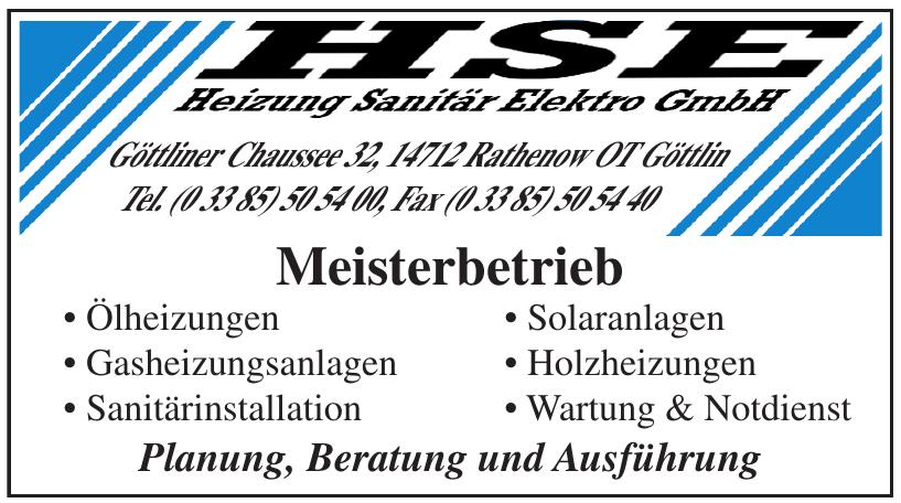 HSE-Heizung Sanitär Elektro GmbH