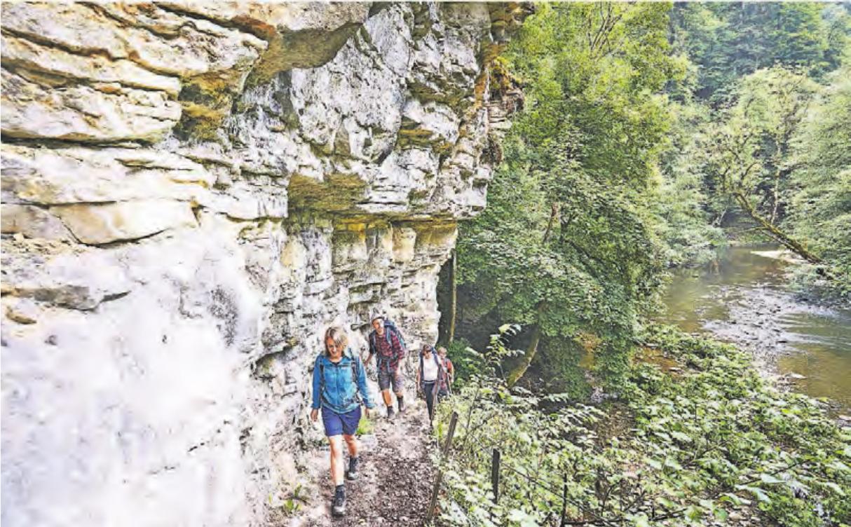 Wanderer in der Wutachschlucht, Deutschlands größtem Canyon.