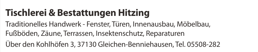 Tischlerei & Bestattungen Hitzing