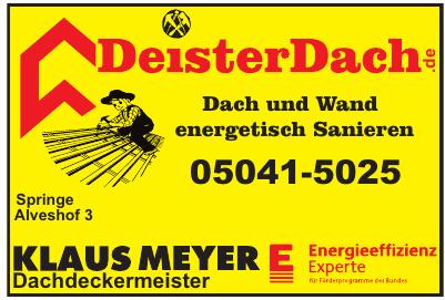 Klaus Meyer Dachdeckermeister