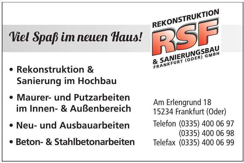 RSF Rekonstruktion & Sanierungsbau Frankfurt (Oder) GmbH