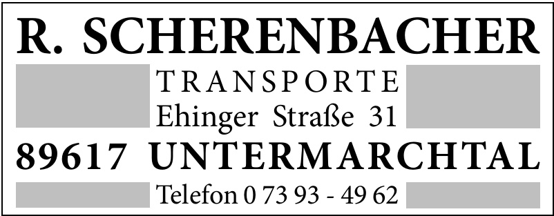 R. Scherenbacher Transporte